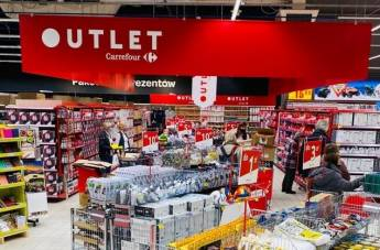 Strefa Outlet w hipermarkecie Carrefour
