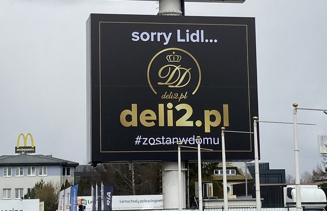 """""""Sorry Lidl"""" - nowy banner Deli2.pl"""